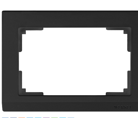 WL04-Frame-01-DBL-black / Рамка для двойной розетки Werkel Stark, Черный матовый