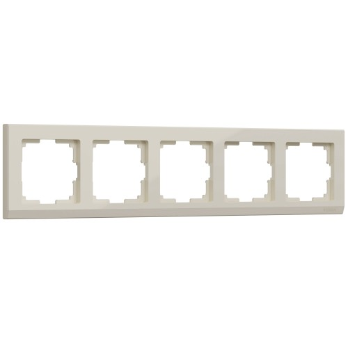 WL04-Frame-05-ivory / Рамка на 5 постов (слоновая кость)
