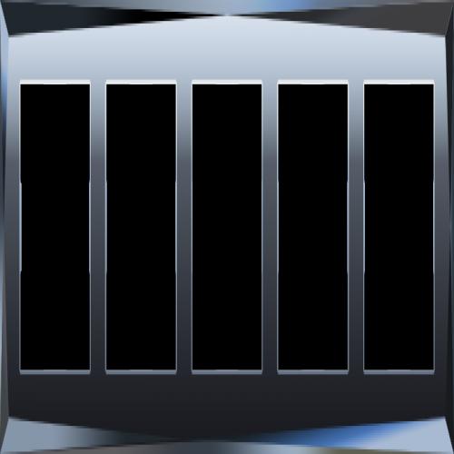 WL08-Frame-05/Рамка на 5 постов (черный)