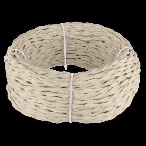 Ретро кабель витой 3х2,5 (песочный) 20м