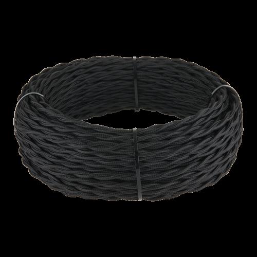 Ретро кабель витой 3х2,5 (черный) 20м
