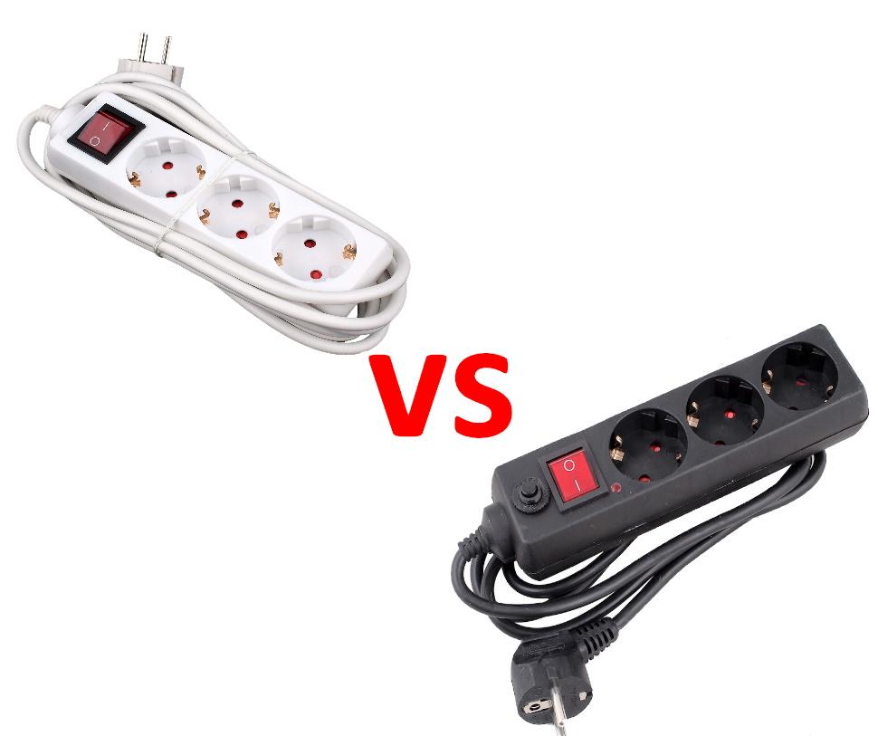 Разница между удлинителем и фильтром