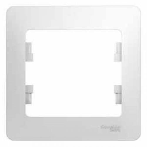 Рамка 1-ая (одинарная), Белый, серия Glossa, Schneider Electric