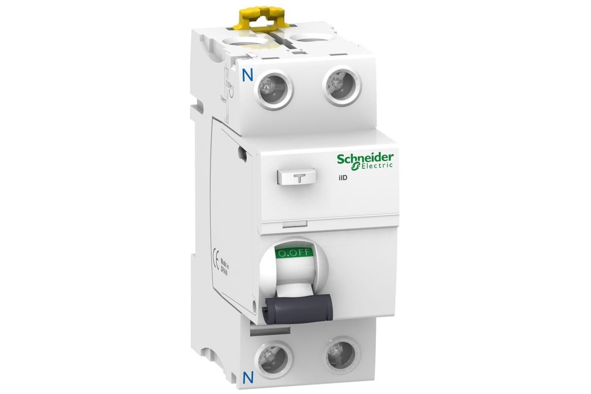 Дифференциальный выключатель нагрева Schneider Electric Acti 9 iID 2П 63A 300mA AC-тип SE A9R44263