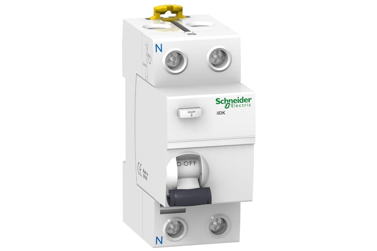 Дифференциальный выключатель нагрева Schneider Electric Acti 9 iID K 2П 40A 300mA AC-тип SE A9R75240