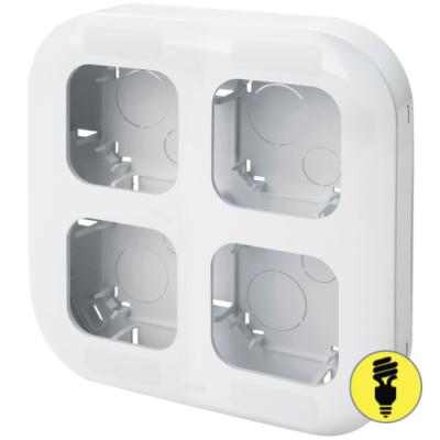 Блок установочный Legrand Quteo на 4 устройства (белый), 782294