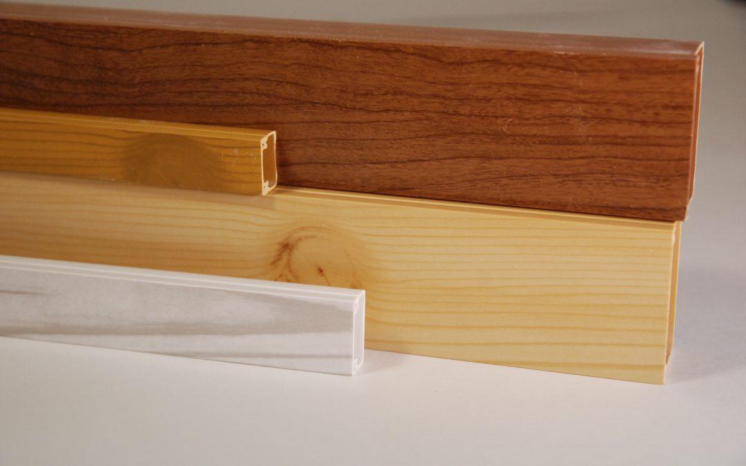 Применение кабель-каналов SV Profile текстура орех