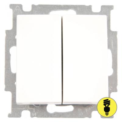Выключатель ABB Basic 55 2-клавишный (белый)