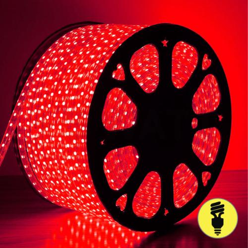 Светодиодная лента 220V SMD5050 60 LED IP 68 Красный