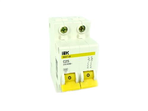 Автоматические выключатели IEK 2-полюсные. Функции