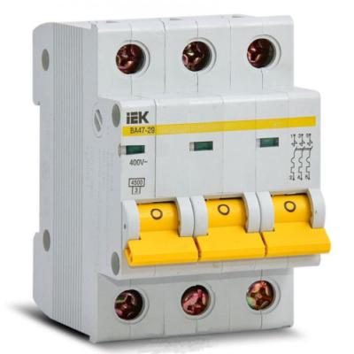 Автоматические выключатели IEK 3-полюсные