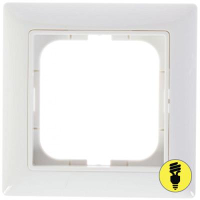 Рамка ABB Basic 55 1-постовая - белая