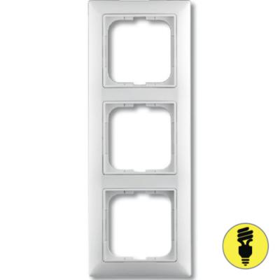 Рамка ABB Basic 55 3-постовая - белая