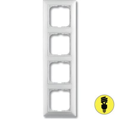 Рамка ABB Basic 55 4-постовая - белая