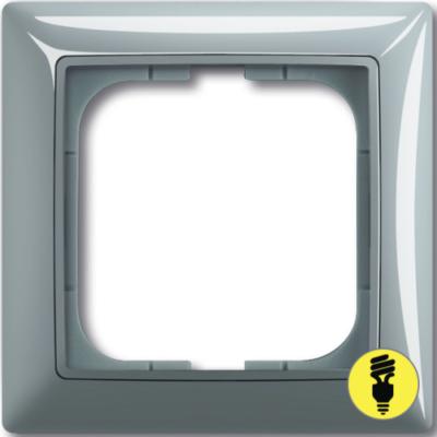 Рамка ABB Basic 55 1-постовая - бистро (голубой)