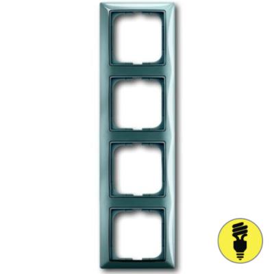 Рамка ABB Basic 55 4-постовая - бистро (голубой)