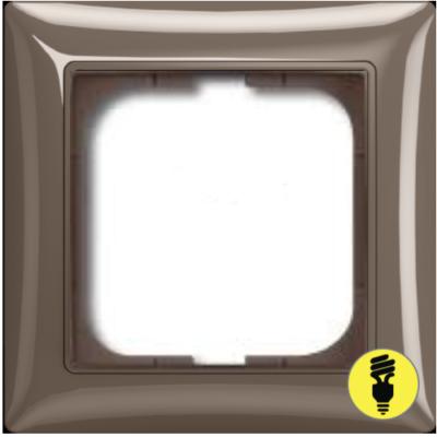 Рамка ABB Basic 55 1-постовая - энтре (серый)