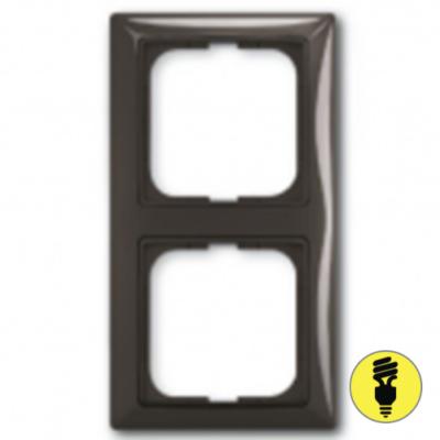Рамка ABB Basic 55 2-постовая - шато (черный)