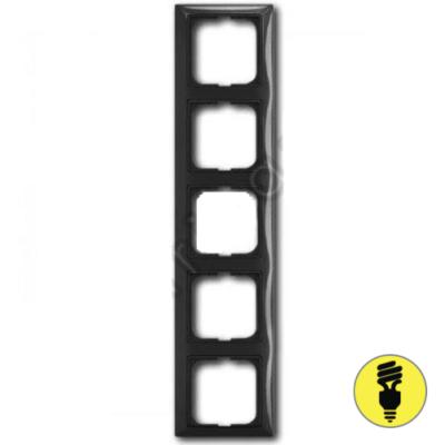 Рамка ABB Basic 55 5-постовая - шато (черный)