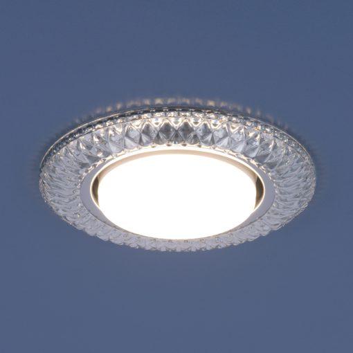 Точечный светильник Elektrostandard со светодиодами 3020 GX53 CL прозрачный