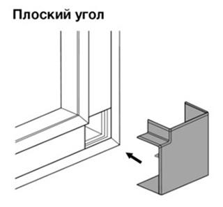 Плоский неизменяемый угол 90° для кабель-канала METRA