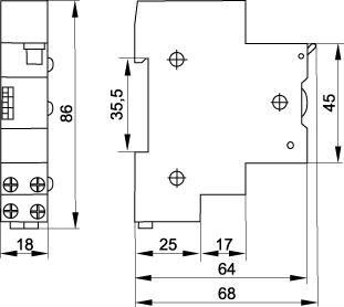 Таймер освещения IEK ТО-47 16А 230В на DIN-рейку