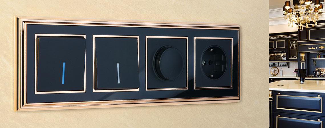 Рамка Werkel Palacio золото-черный