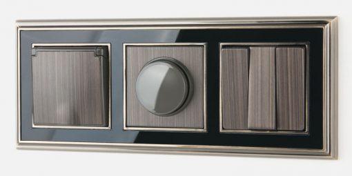 Рамка на 3 поста Werkel Palacio бронза-черный