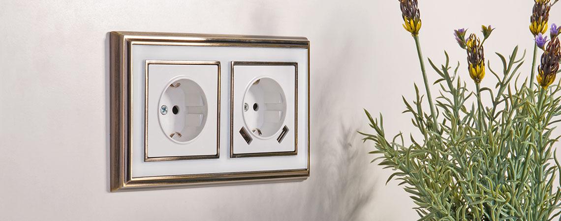 Рамки Werkel Palacio бронза/белый