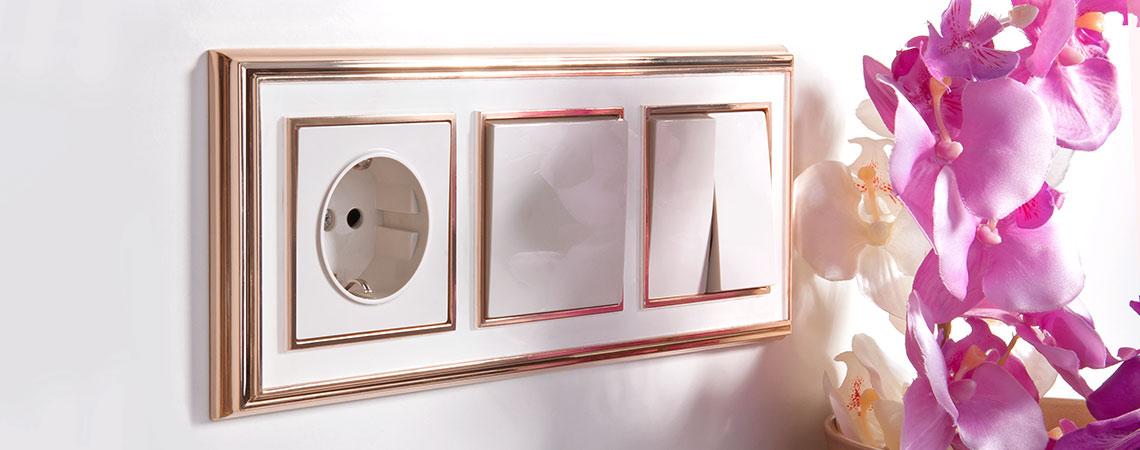 Рамки Werkel Palacio золото/белый